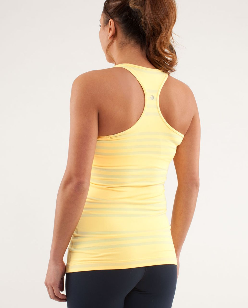 Lululemon Cool Racerback - Ocean Stripe Mellow Lemon