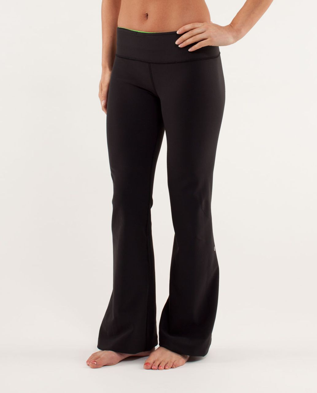 Lululemon Groove Pant *New (Regular) - Black / Frond / Faded Zap