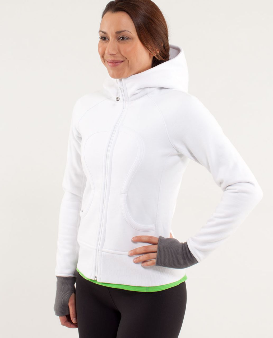 Lululemon Scuba Hoodie *Stretch (Lined Hood) - White /  Slate