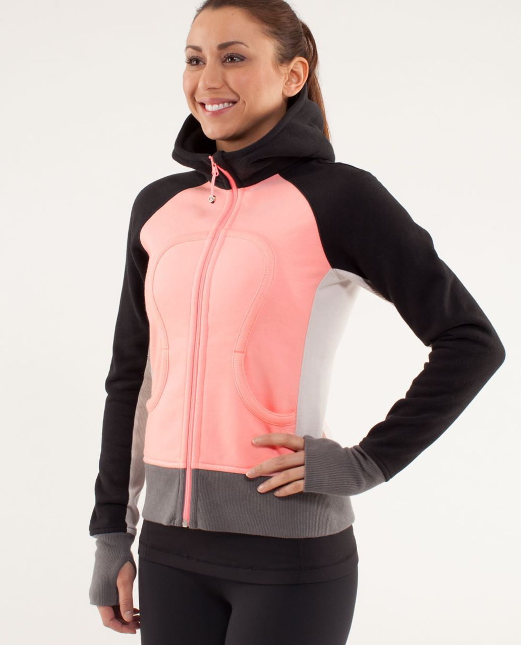 Lululemon Scuba Hoodie *Stretch (Lined Hood) - Bleached Coral / Dune / Black