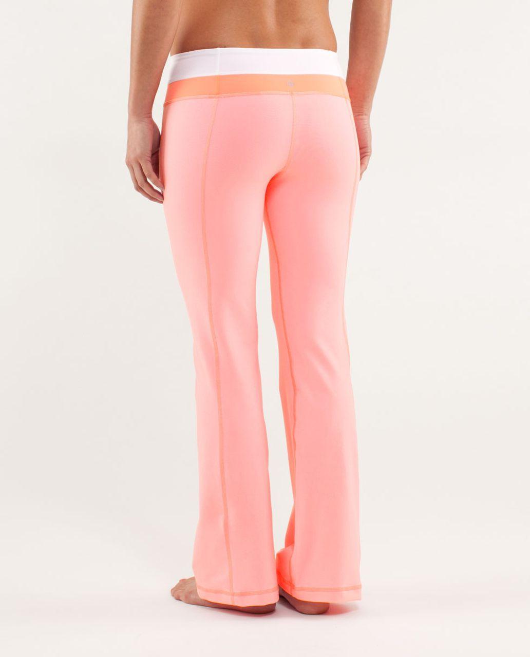 Lululemon Groove Pant *New (Regular) - Bleached Coral / White / Pop Orange