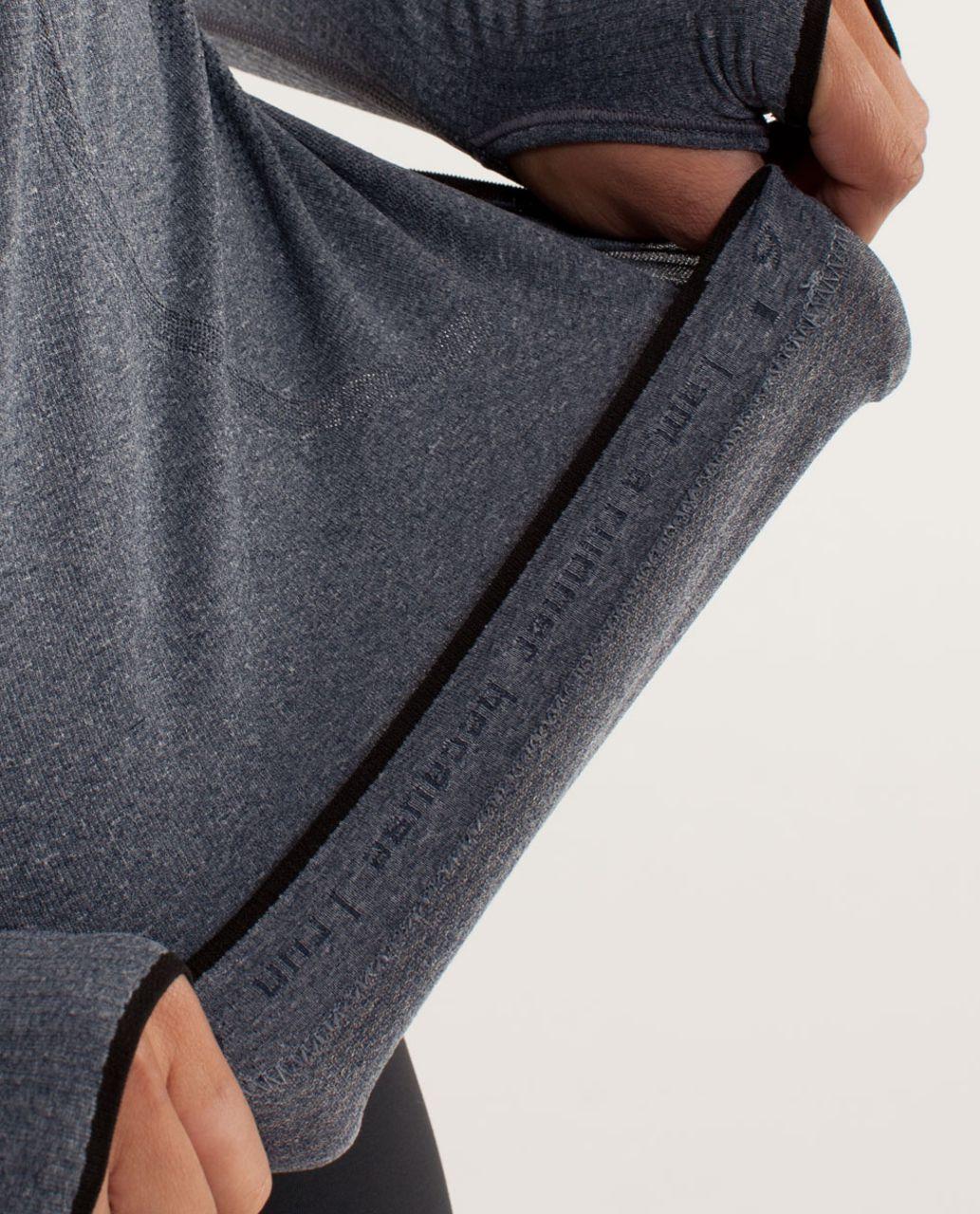 Lululemon Run:  Swiftly Tech Long Sleeve - Inkwell / Black