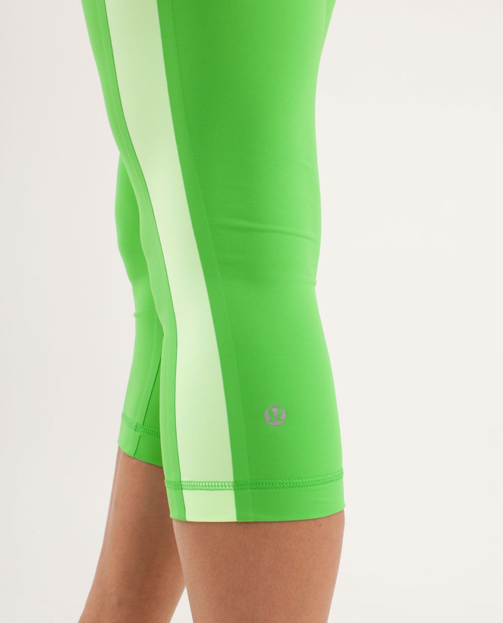 Lululemon Run:  Proceed With Speed Crop - Frond / Faded Zap