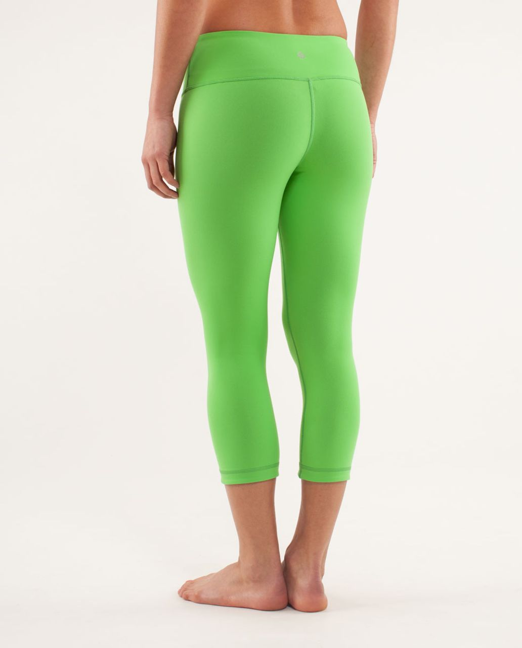 Lululemon Wunder Under Crop *Reversible - Black / Frond
