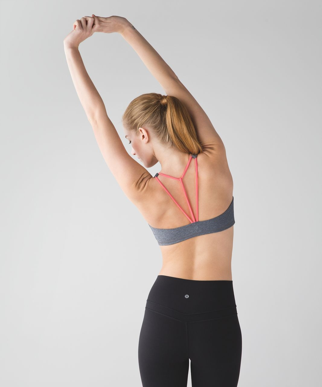 Lululemon Free To Be Bra (Trinity) - Heathered Slate / Grapefruit