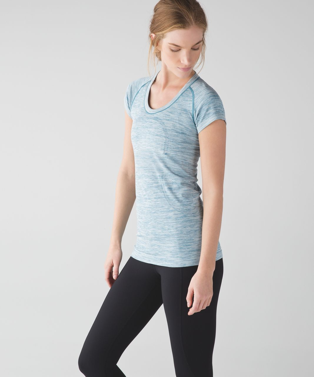 Lululemon Swiftly Tech Short Sleeve Scoop - Heathered Tofino Teal