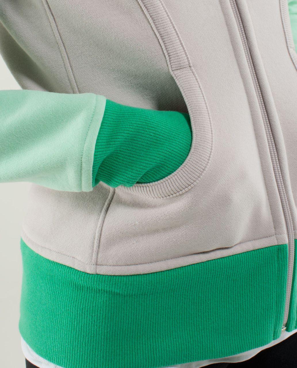Lululemon Scuba Hoodie *Stretch (Lined Hood) - Dune / Fresh Teal / Very Green