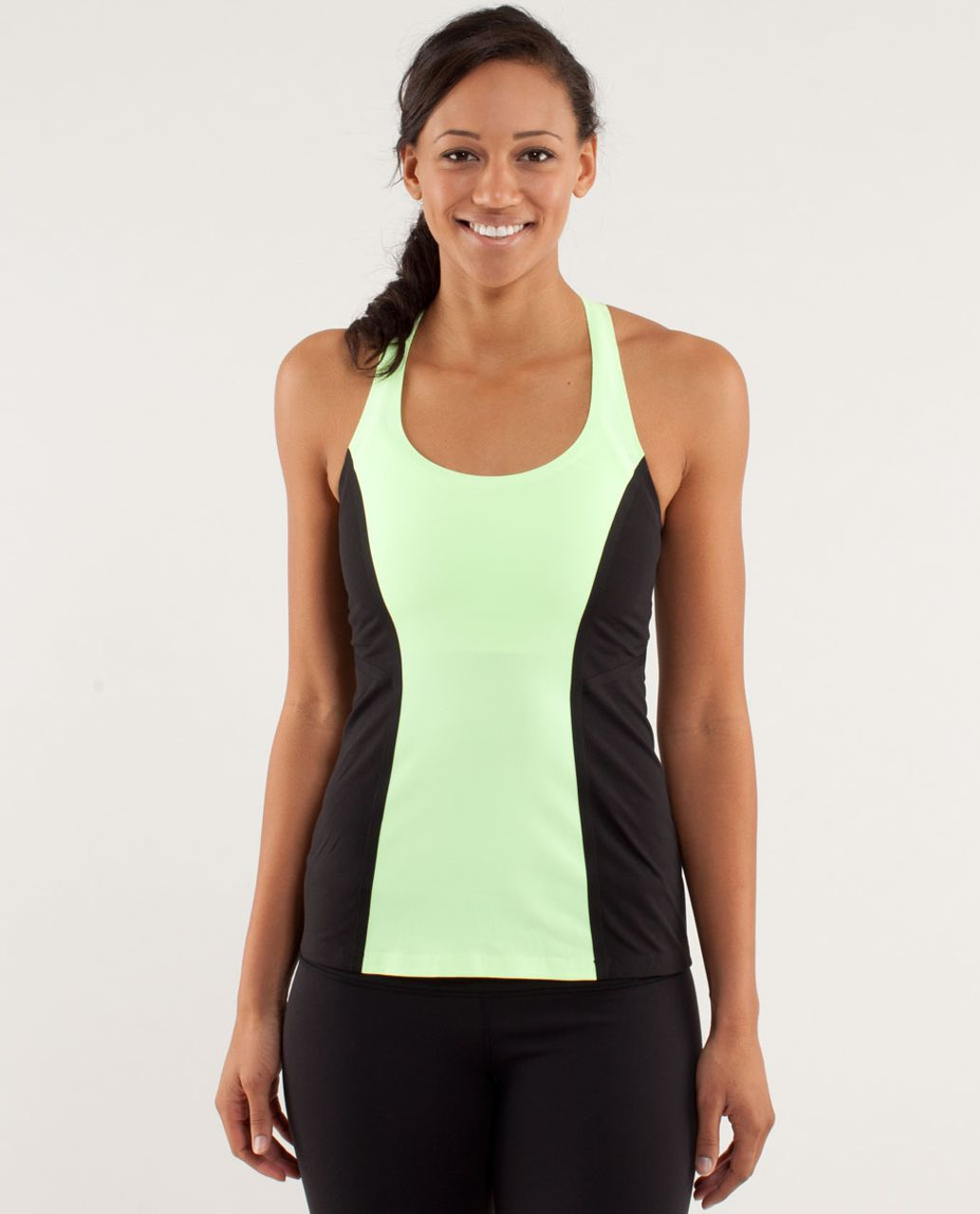 Lululemon Cool Racerback *Surf Bonded - Faded Zap / Black