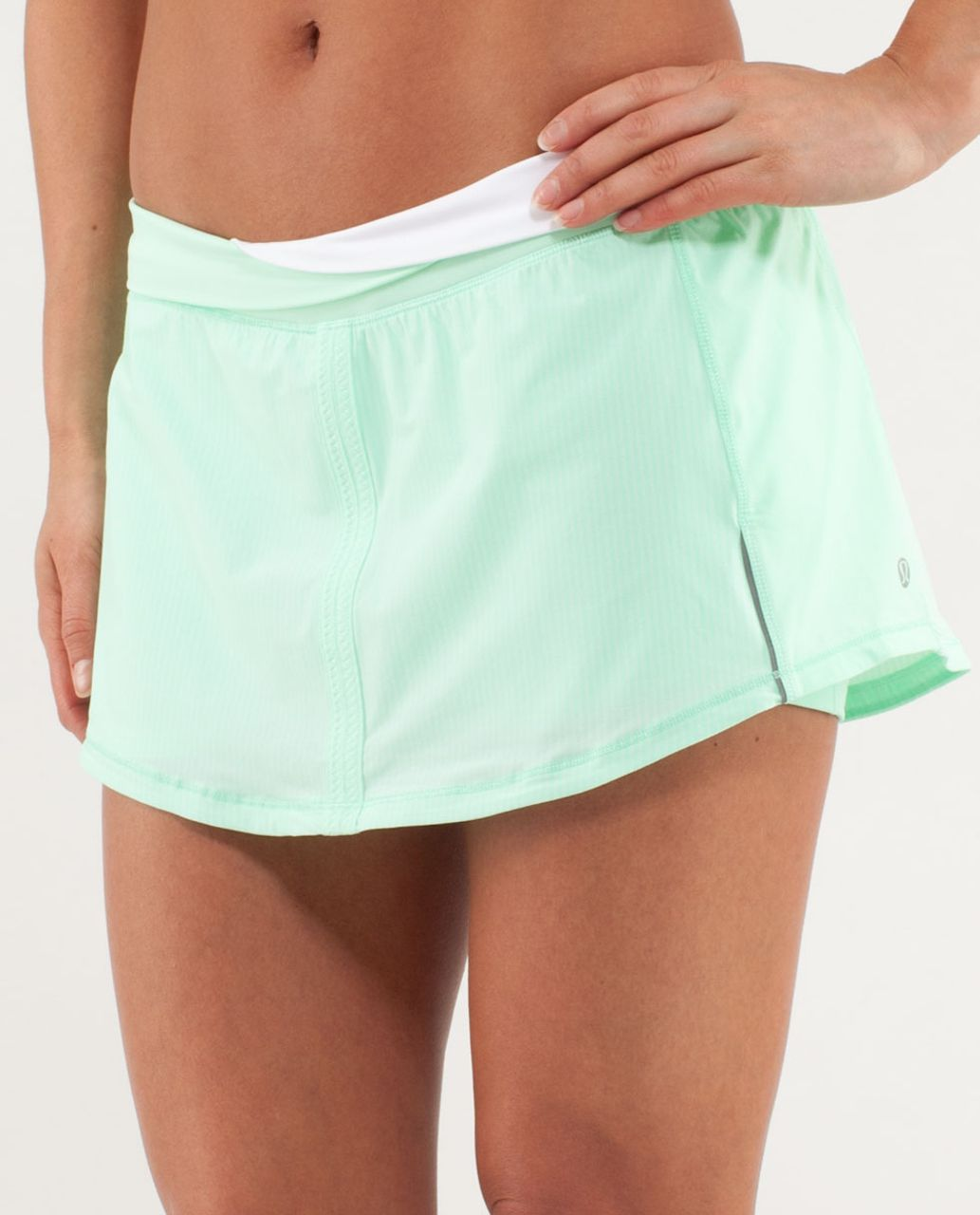 Lululemon Run: Pace Skirt - Wagon Stripe Fresh Teal / Fresh Teal ...