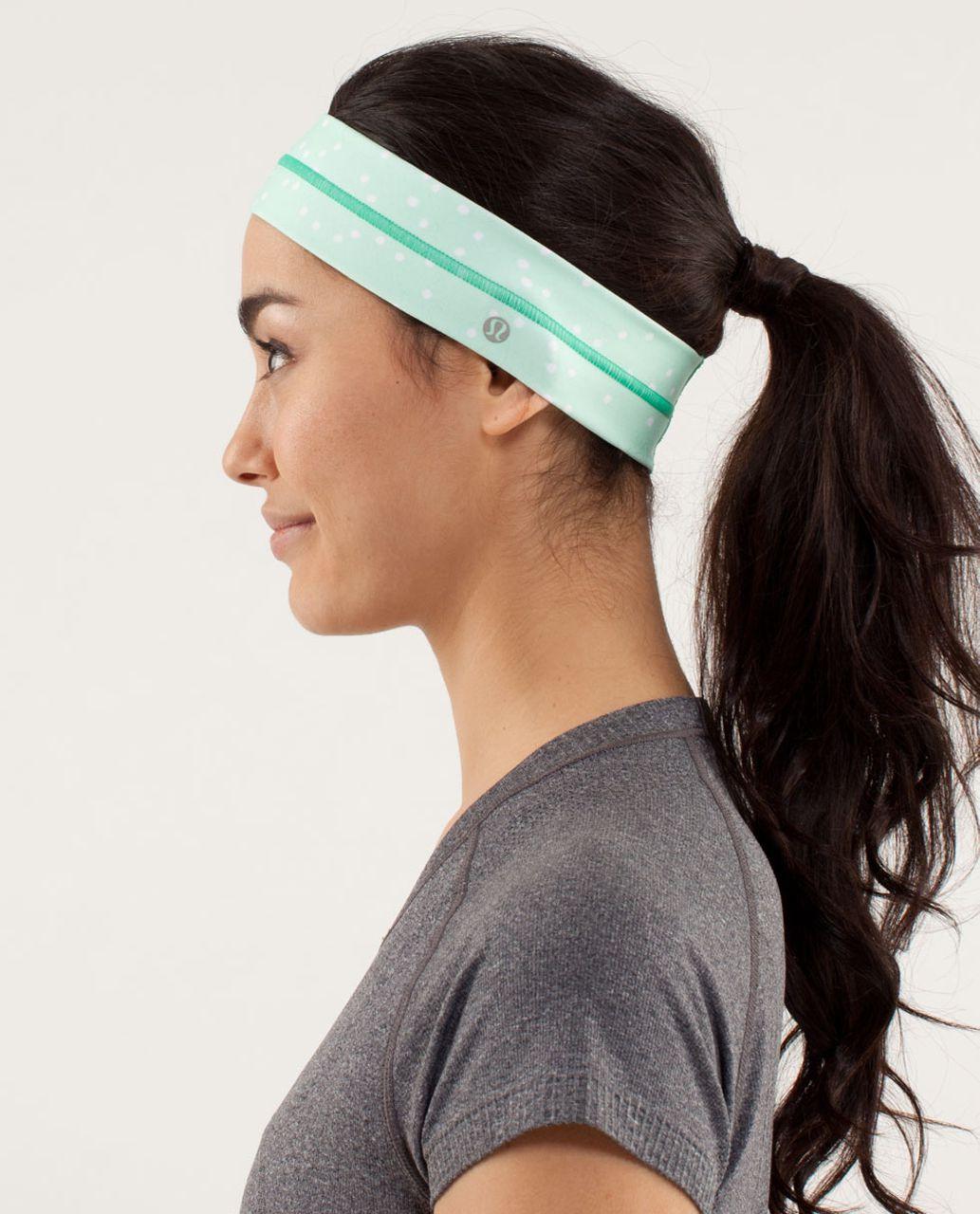Lululemon Fly Away Tamer Headband - Petit Dot Fresh Teal