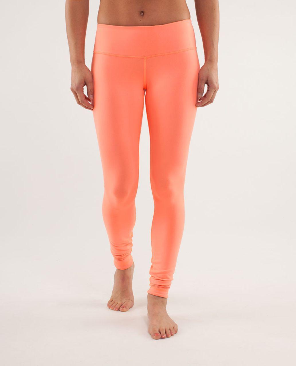 Lululemon Wunder Under Pant *Reversible - Black / Pop Orange