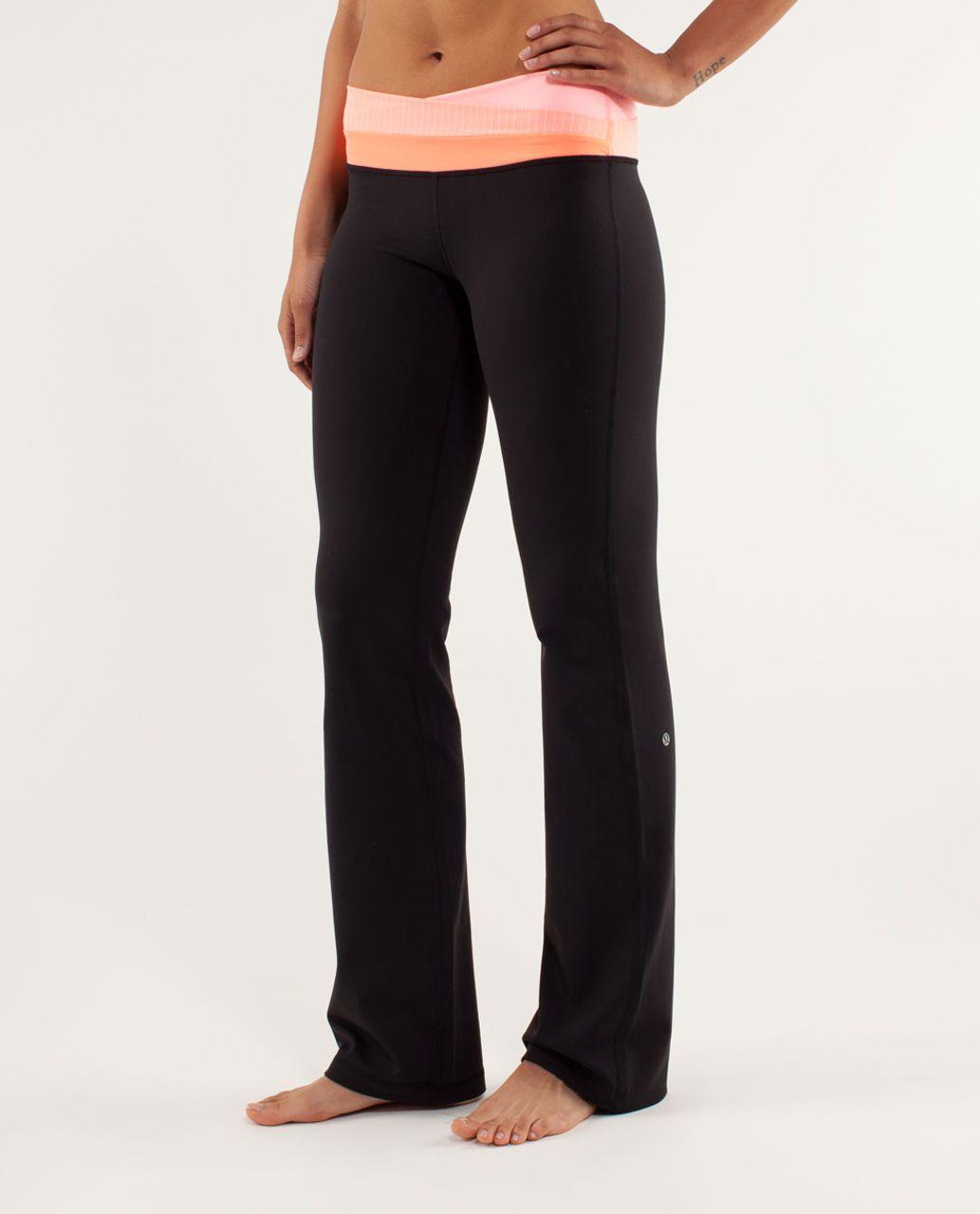 Lululemon Astro Pant (Regular) - Black / Bleached Coral / Pop Orange