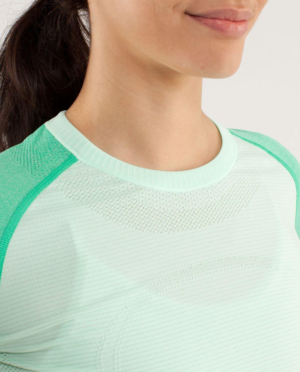 Lululemon Run:  Swiftly Tech Long Sleeve - Fresh Teal / Very Green