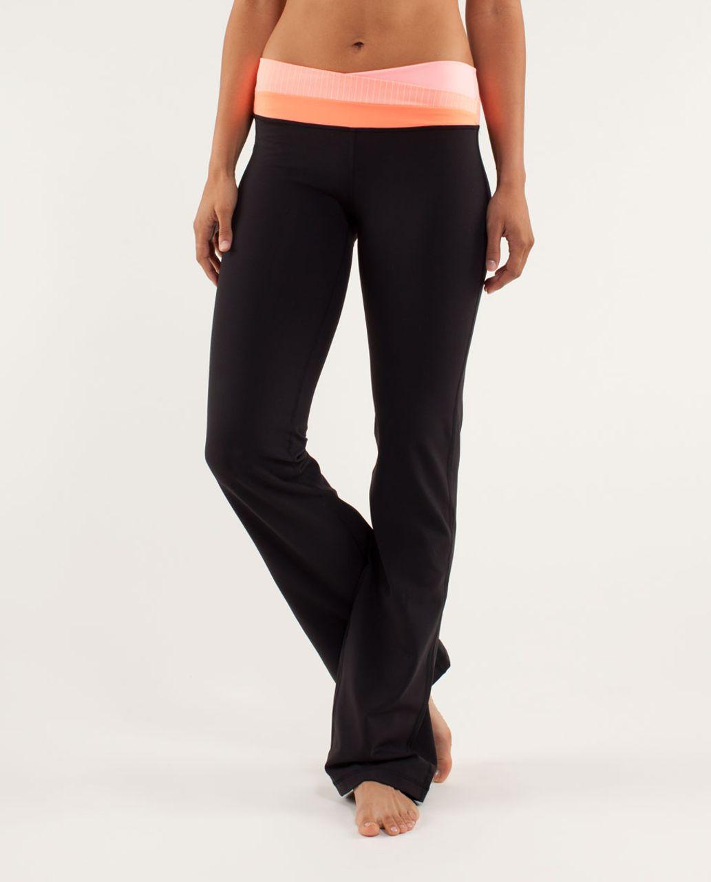 8769e1de4e Lululemon Astro Pant (Tall) - Black / Bleached Coral / Pop Orange - lulu  fanatics