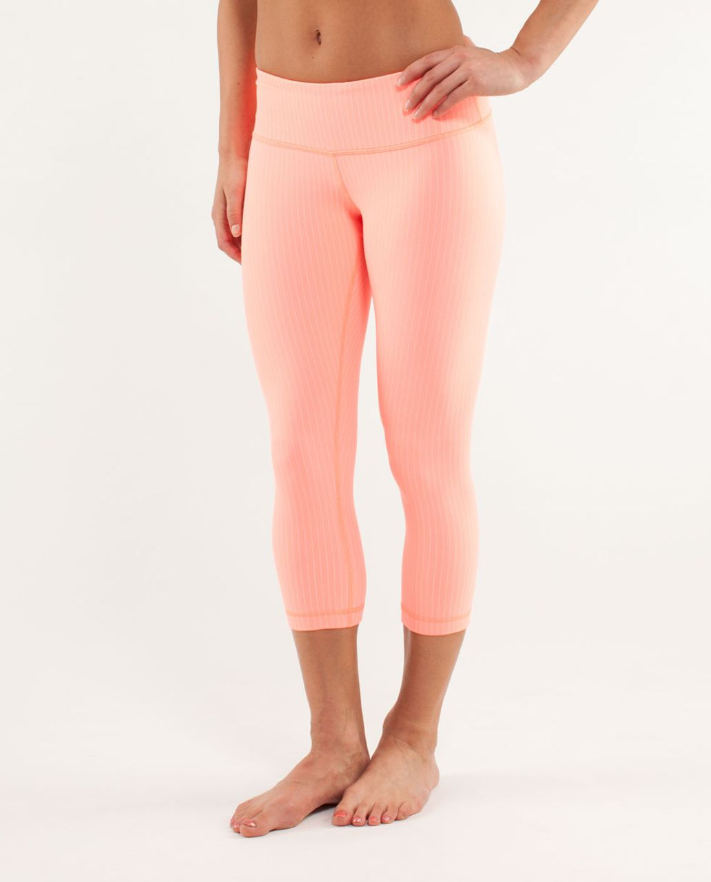 Lululemon Wunder Under Crop - Pop Orange