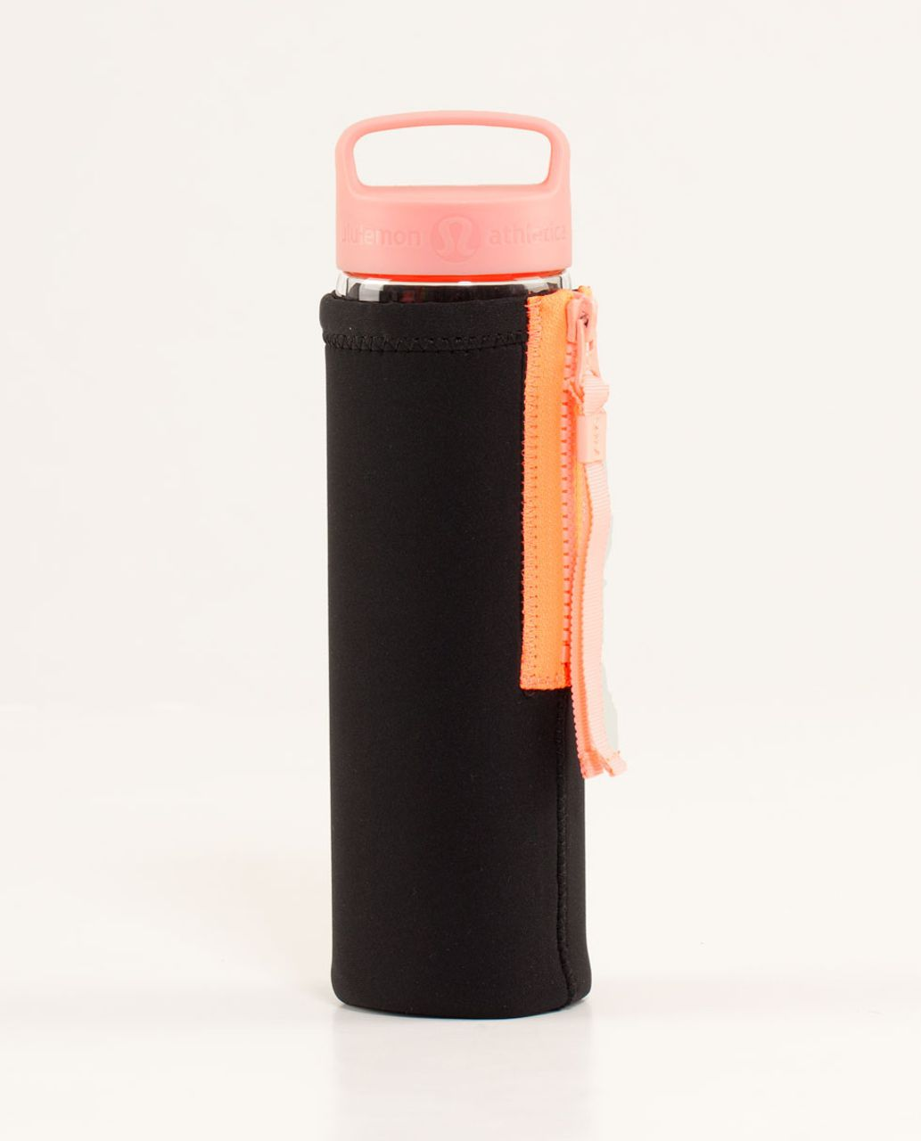 Lululemon Pure Balance Waterbottle *With Sleeve - Black / Bleached Coral