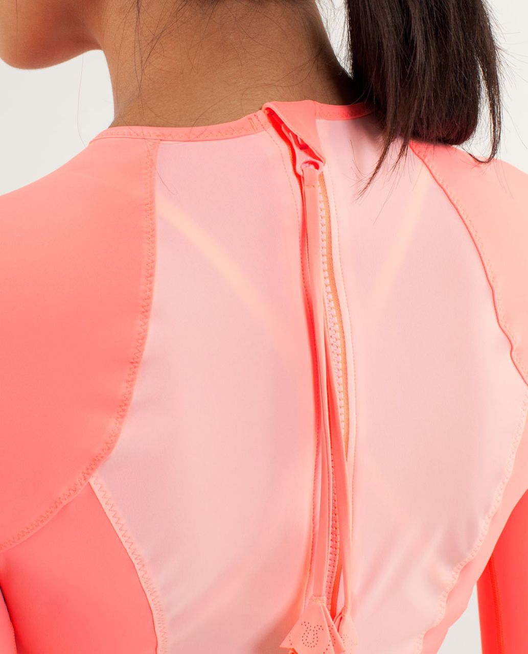 Lululemon Board Balance Rash Guard - Bleached Coral / Pop Orange