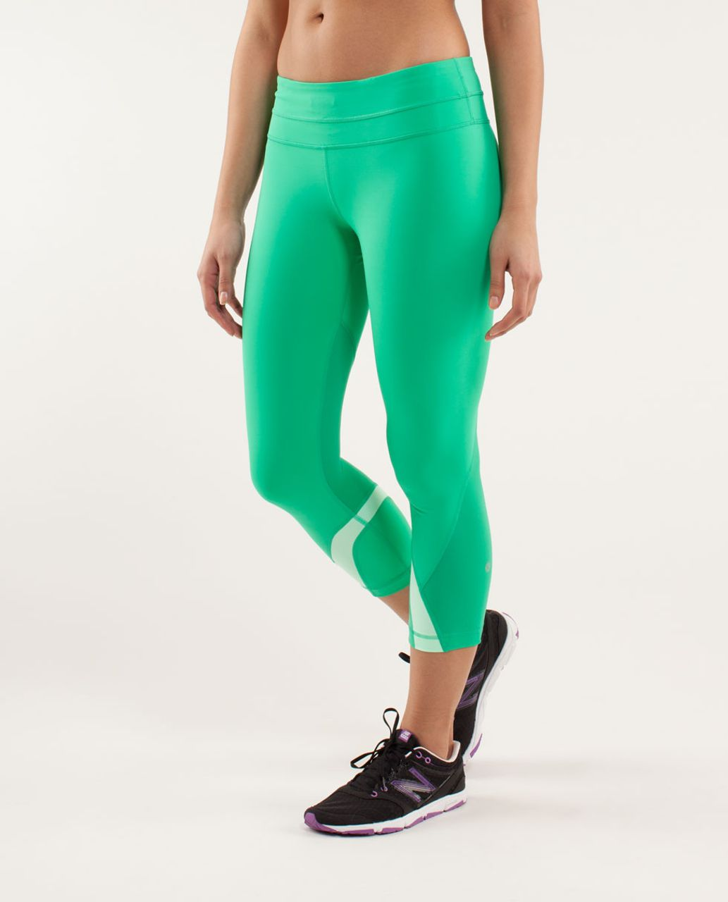 Lululemon Run:  Inspire Crop II - Very Green / Fresh Teal