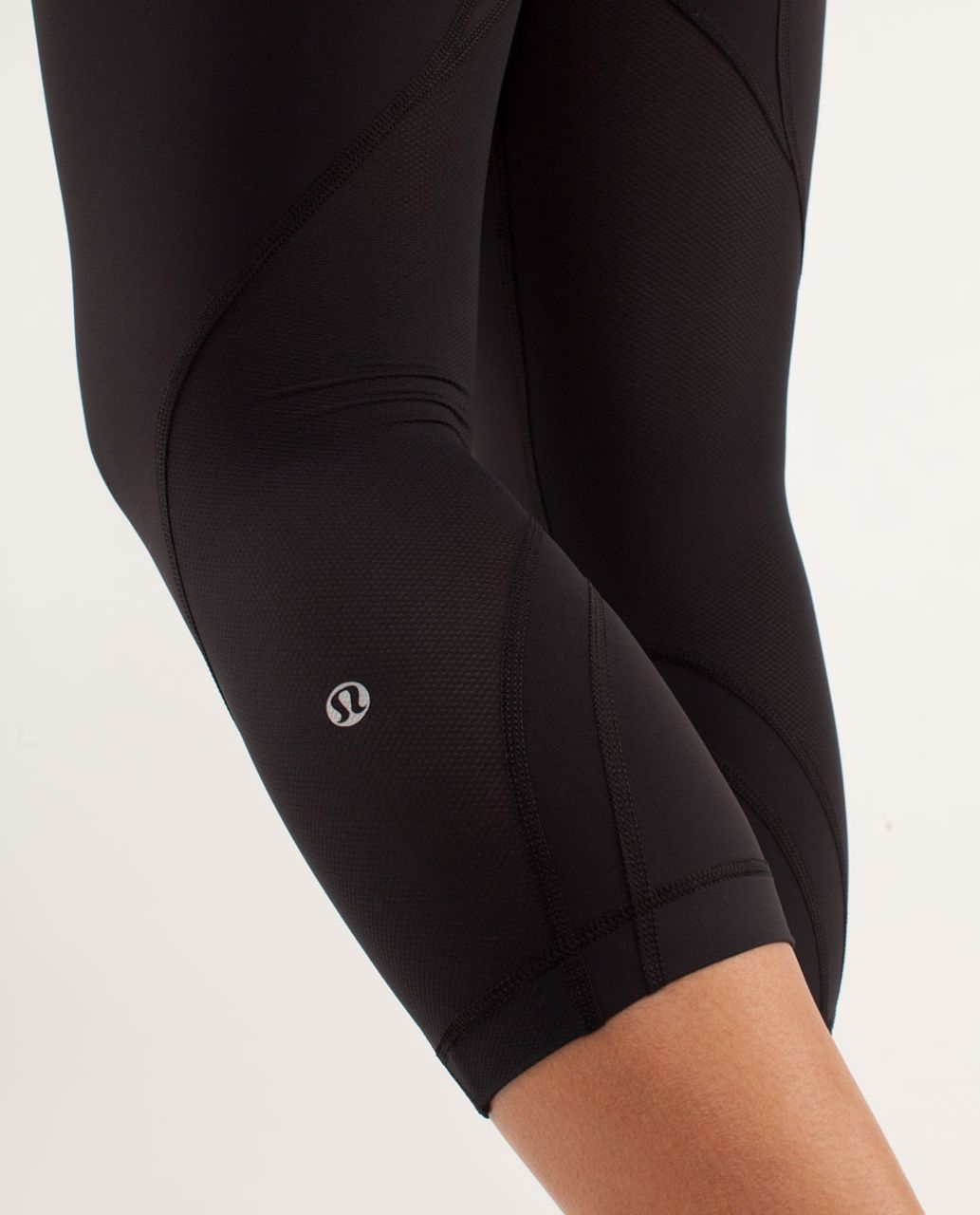 Lululemon Run:  Inspire Crop II - Black / Quilt Spring13 12