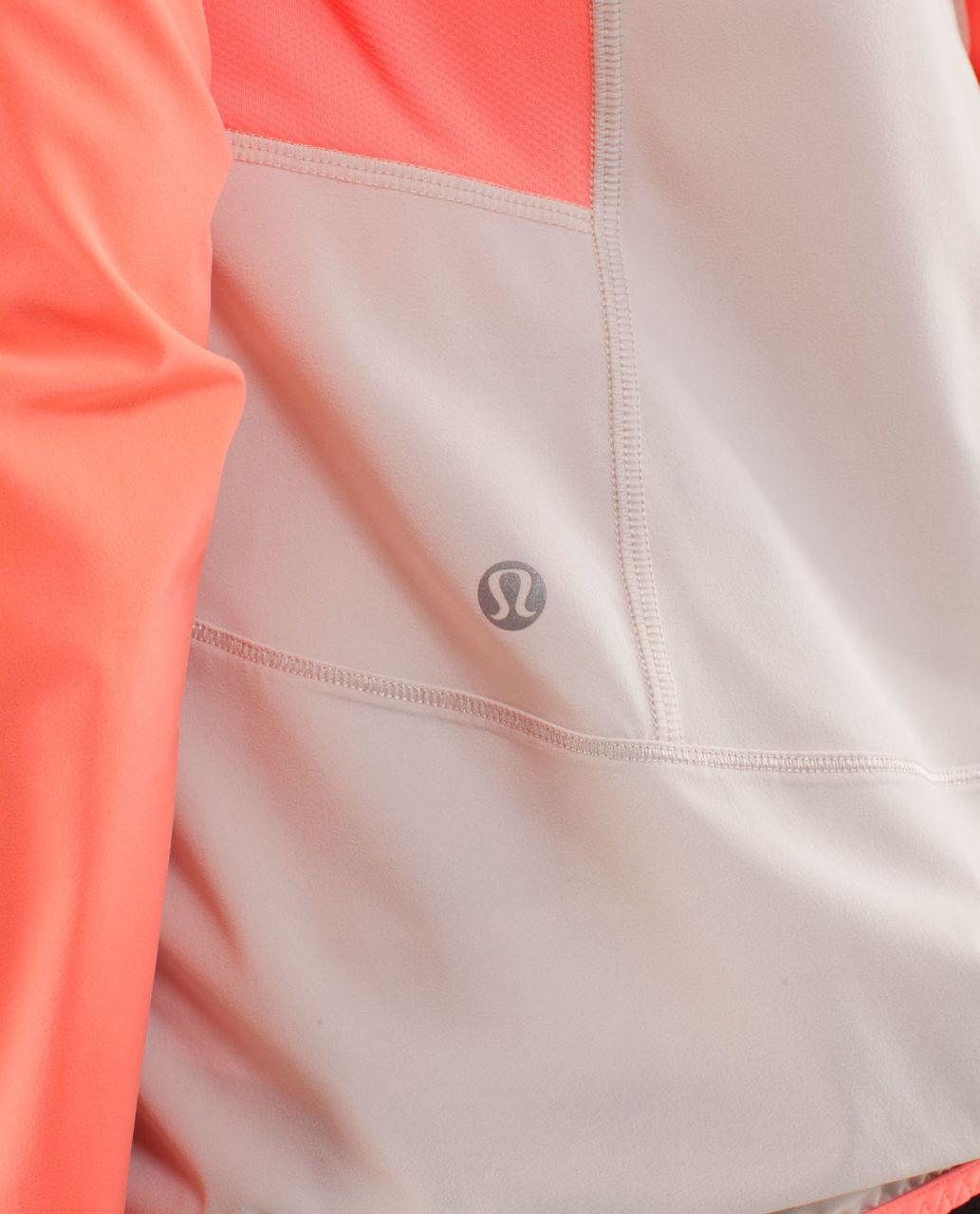 Lululemon Run:  Stash & Dash Pullover - Dune / Pop Orange
