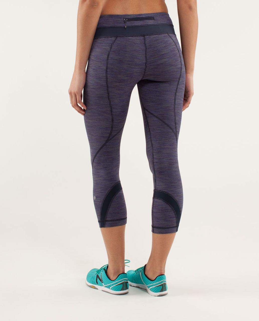 Lululemon Run:  Inspire Crop II - Wee Are From Space Deep Indigo Multi / Inkwell