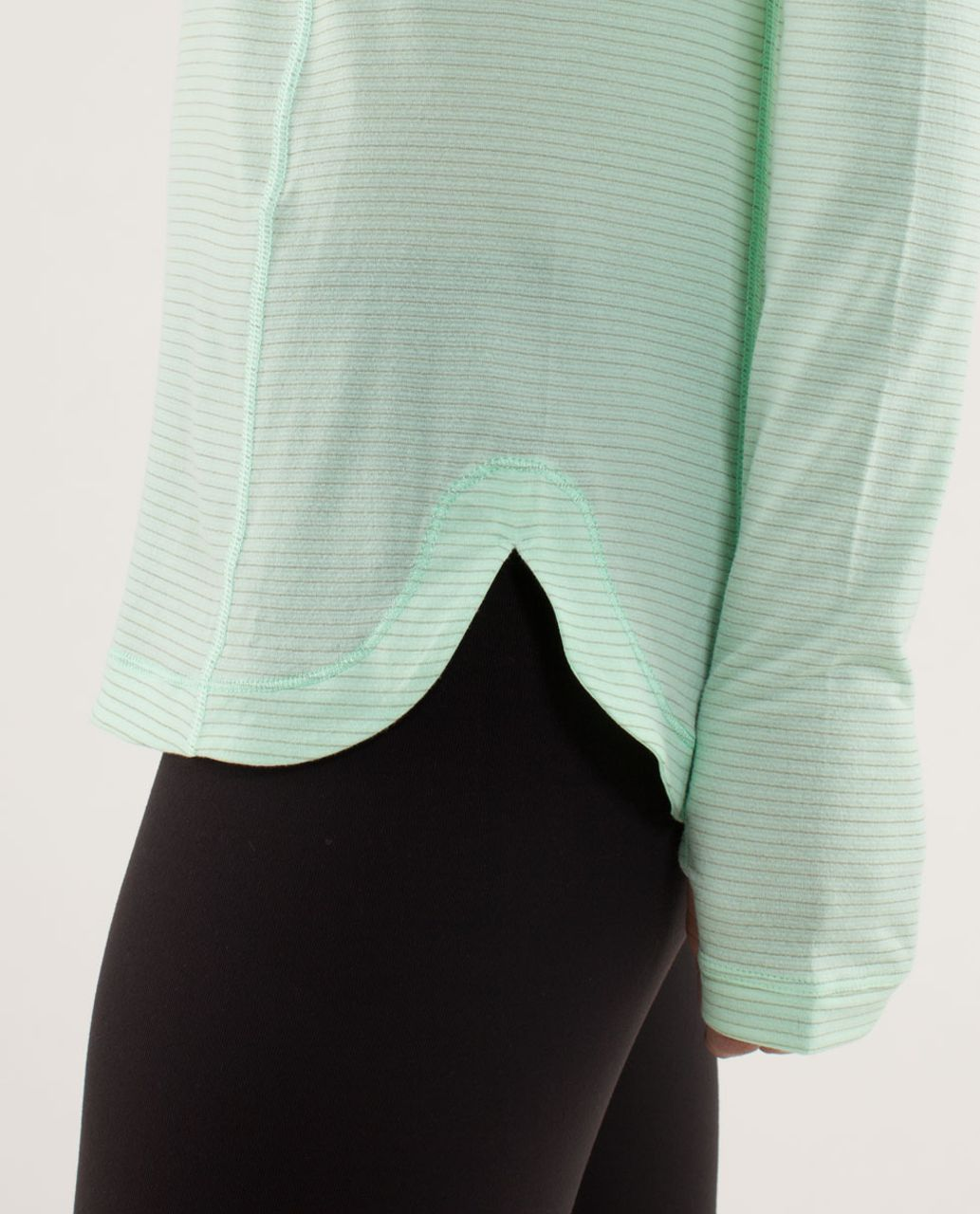 Lululemon Run:  Turn It Up Long Sleeve - Fresh Teal / Wagon Stripe Fresh Teal