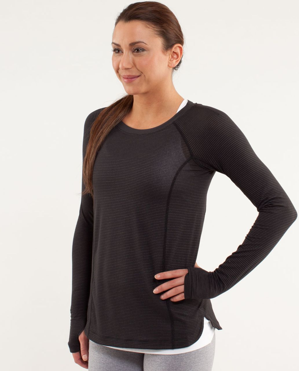 Lululemon Run:  Turn It Up Long Sleeve - Black