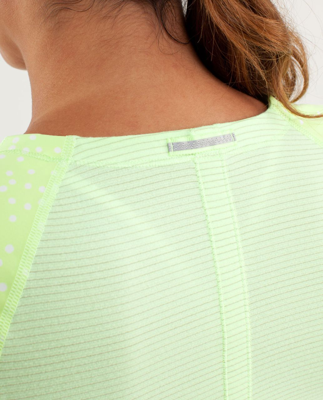 Lululemon Run:  Turn It Up Tee - Faded Zap / Petit Dot Faded Zap / Wagon Stripe Faded Zap