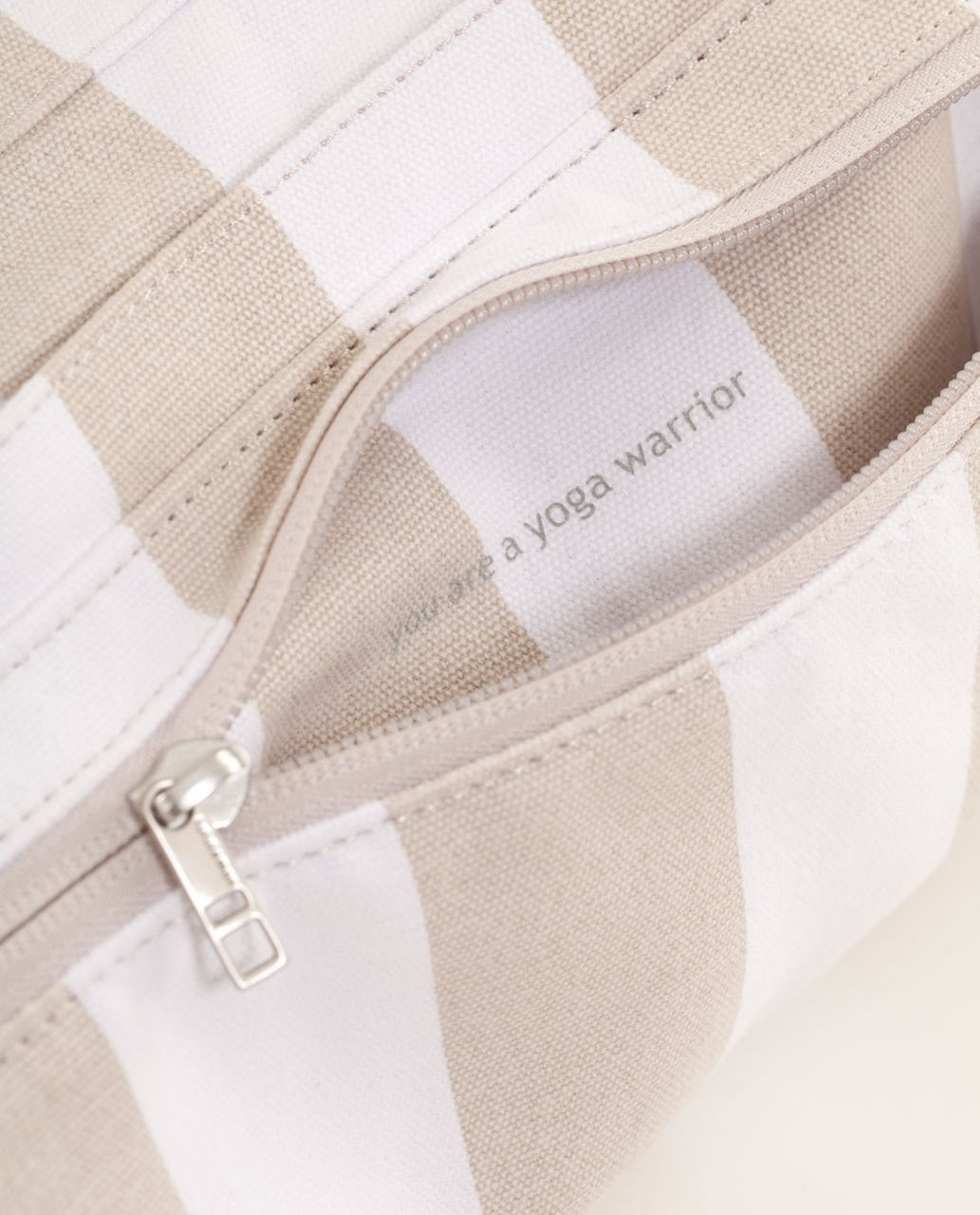 Lululemon Namaste Yoga Tote IV *Canvas - Beach Stripe Dune