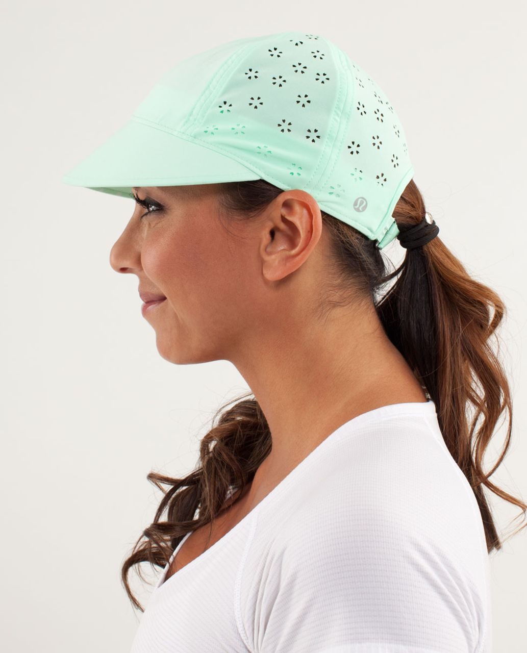 Lululemon Speed Demon Run Hat - Fresh Teal / Petit Dot Fresh Teal