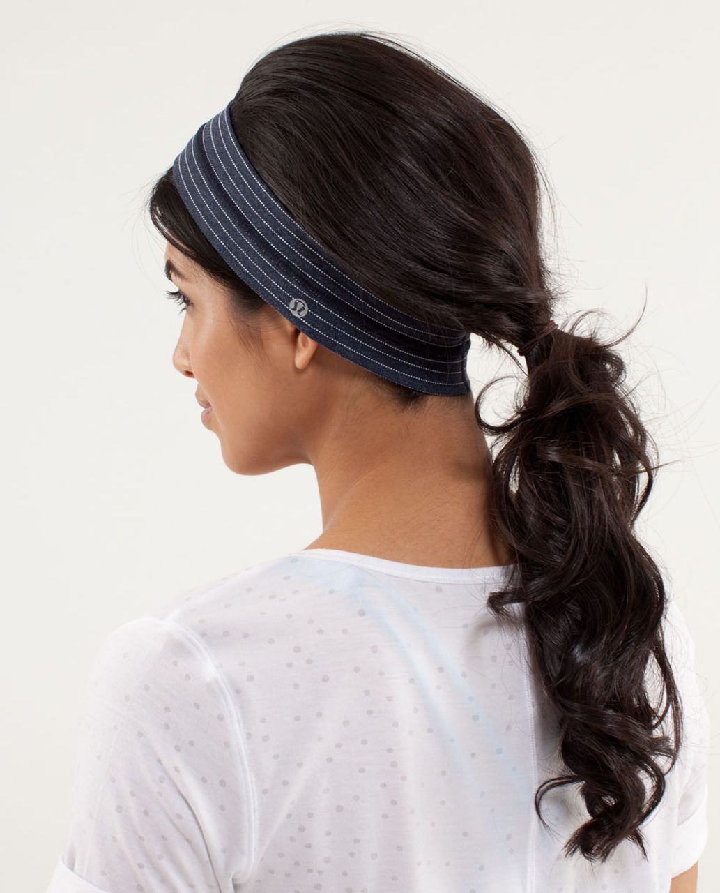 Lululemon Fly Away Tamer Headband *Pinstripe - Inkwell