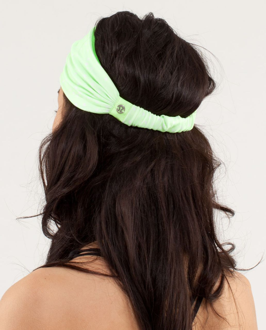 Lululemon Bang Buster Headband *Reversible - Petit Dot Faded Zap / Frond