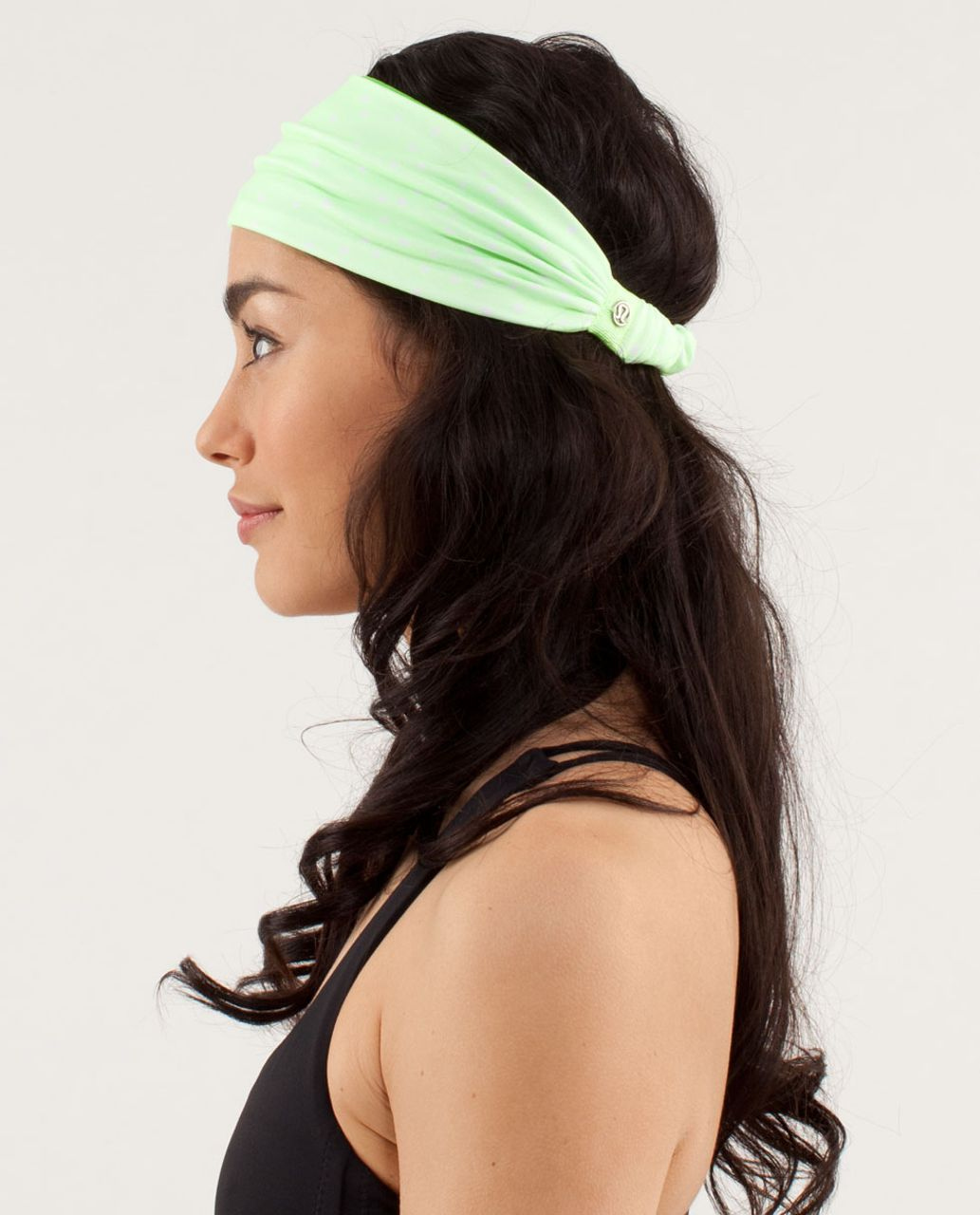 Lululemon Bang Buster Headband *Reversible - Petit Dot Faded Zap / Frond