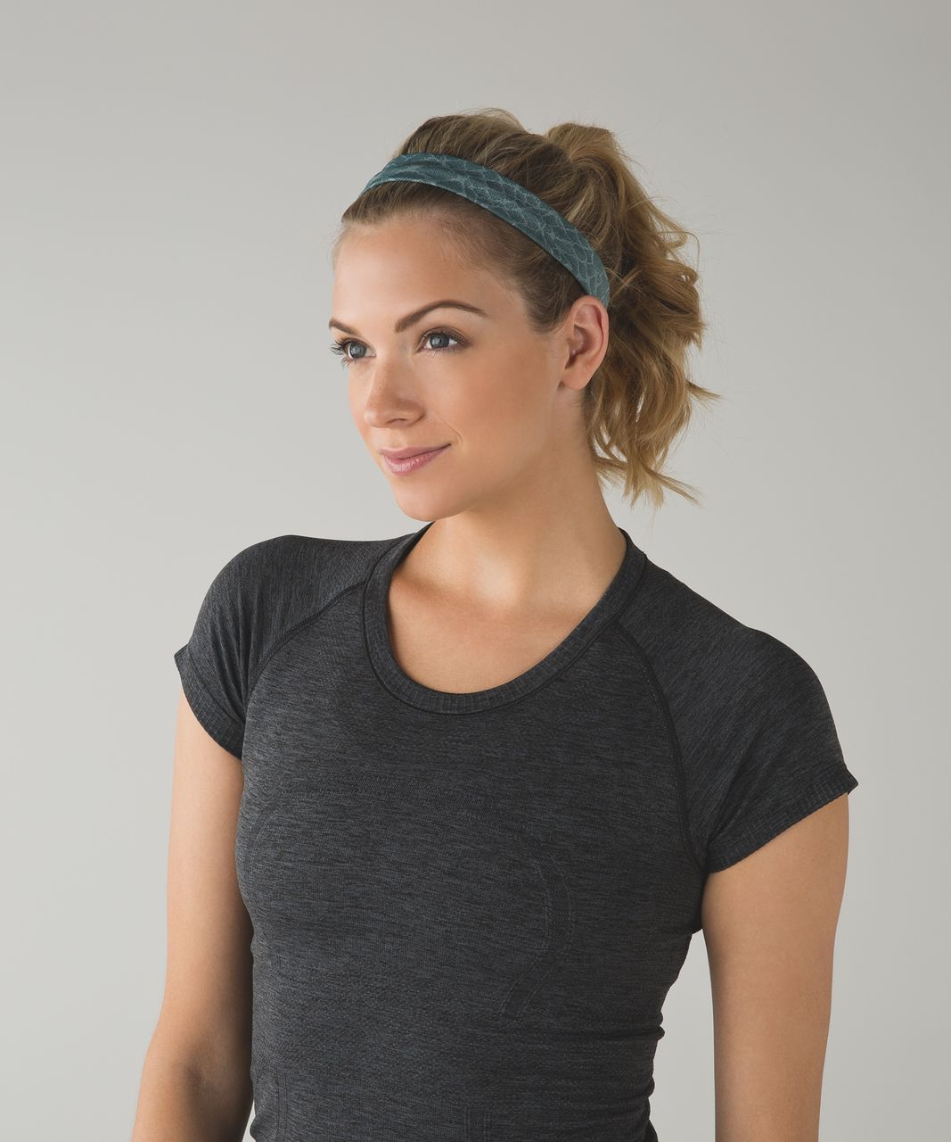 Lululemon Cardio Cross Trainer Headband - Heathered Deep Green