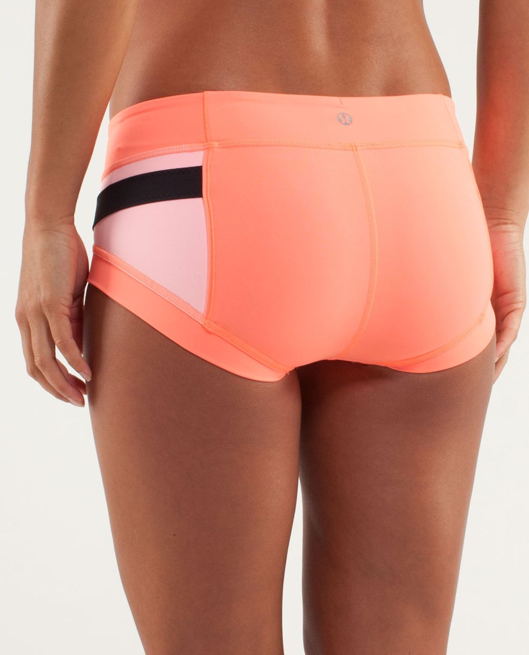 Lululemon Heat It Up Short - Pop Orange / Bleached Coral / Black
