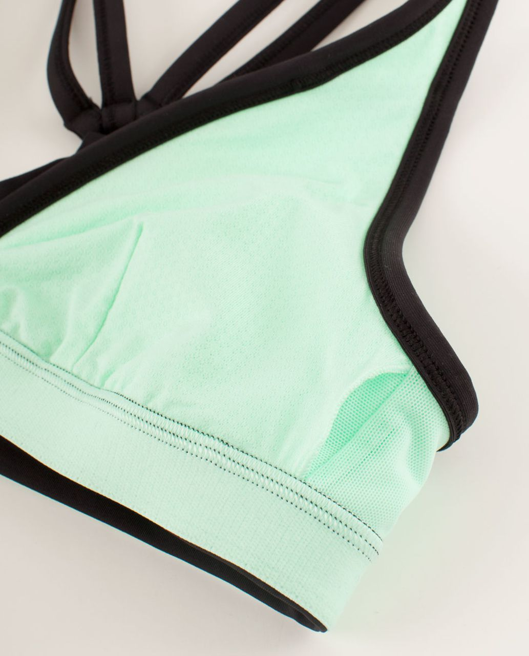 Lululemon Heat It Up Bra - Fresh Teal / White / Black