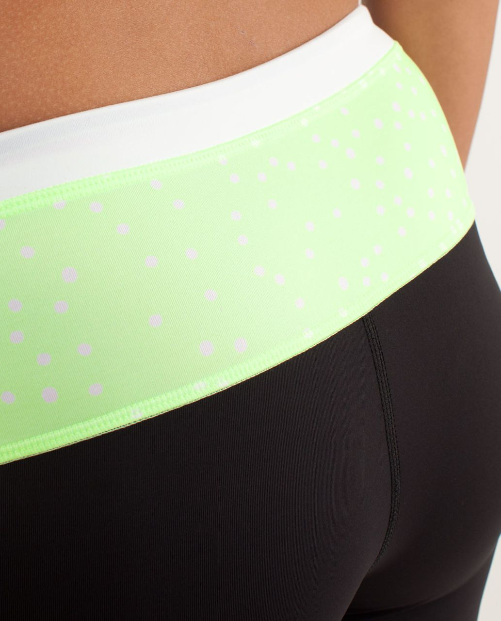 Lululemon Run:  Proceed With Speed Crop - Black / Faded Zap / White