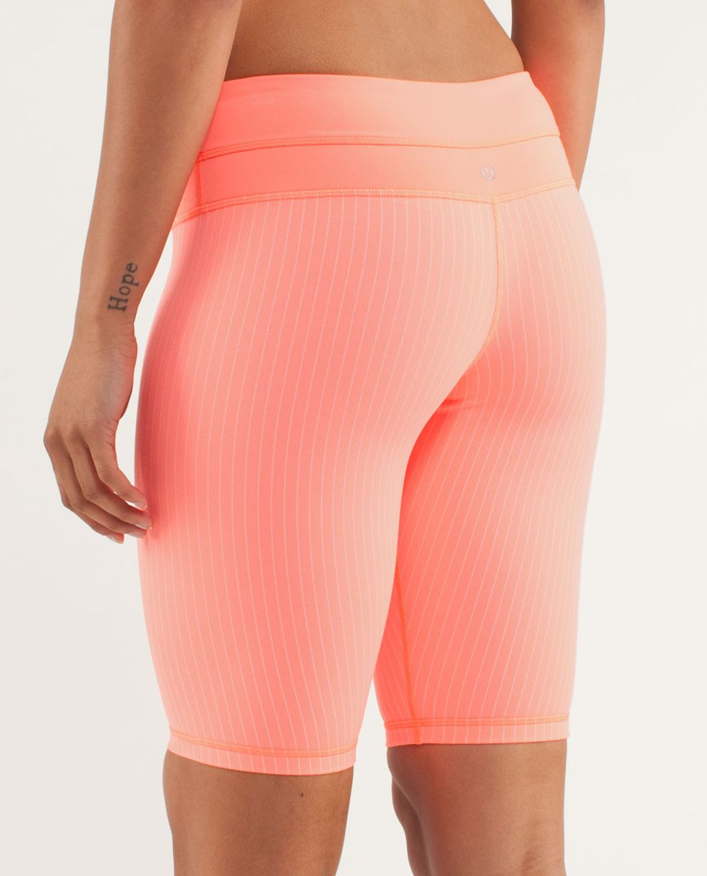 Lululemon Reverse Groove Short (Tall) - Pop Orange / Bleached Coral