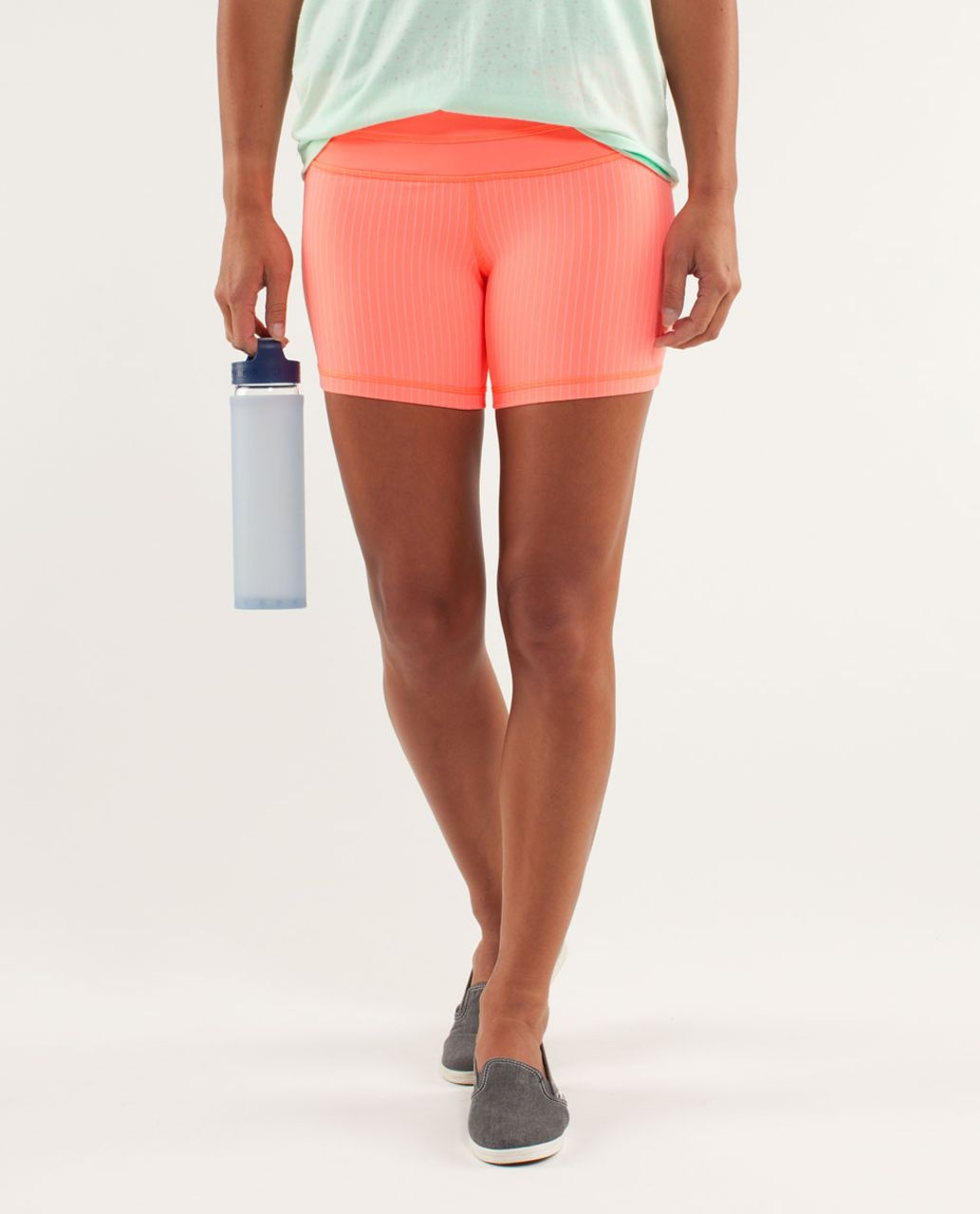 Lululemon Reverse Groove Short (Regular) - Pop Orange / Bleached Coral