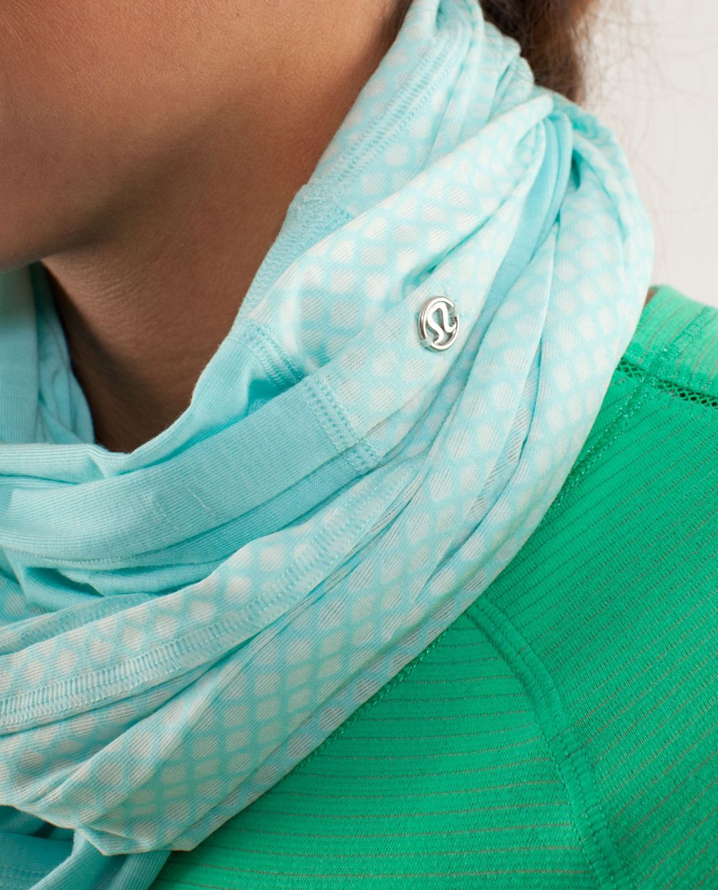 Lululemon Twist And Shout Scarf - Aquamarine / Mesh Burnout Aquamarine