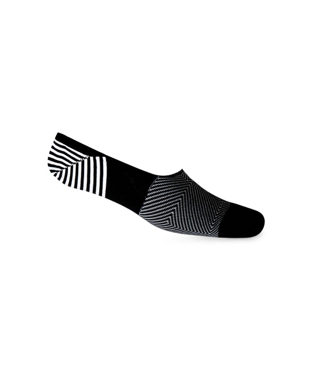 Lululemon Secret Sock - Black / White / Boom Juice