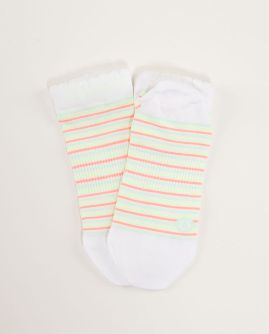 Lululemon Run For Ice Cream Sock - Sundae Stripe Fresh Teal