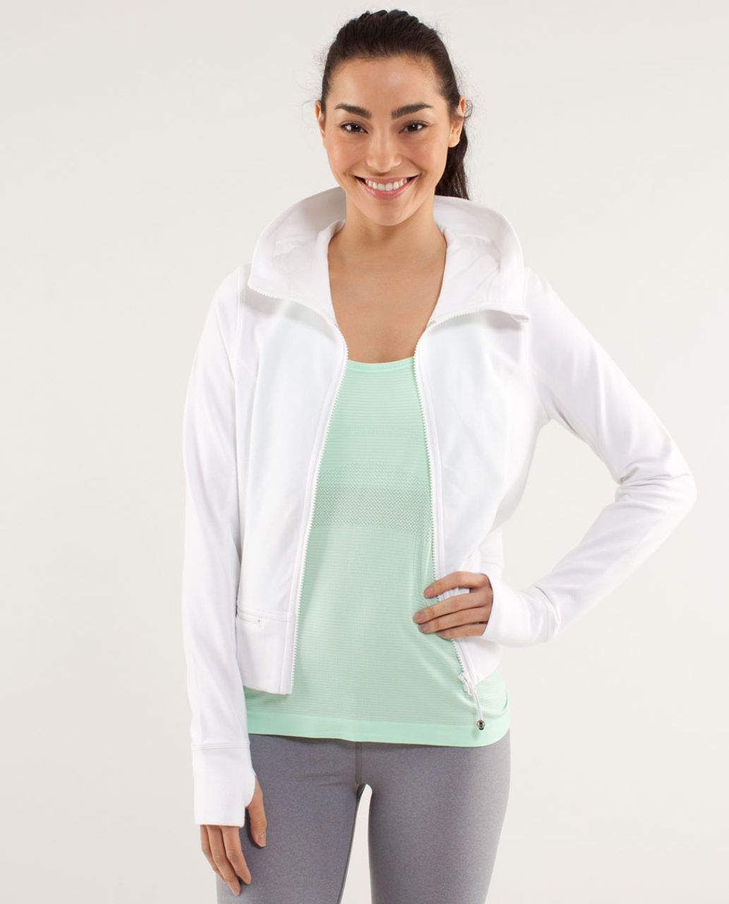 Lululemon Throw Me Over Hoodie - White