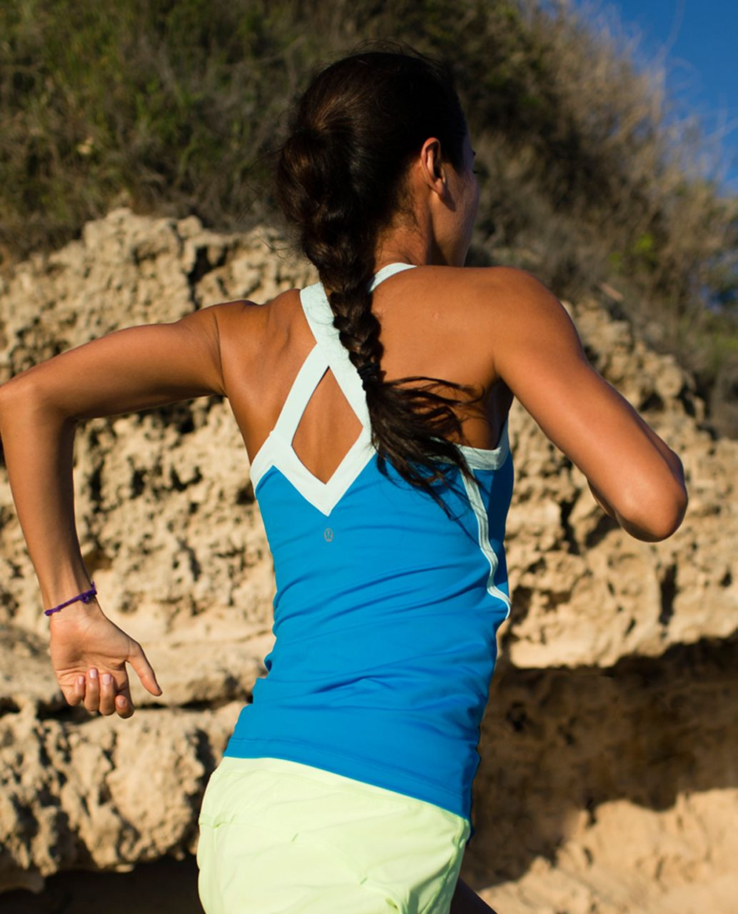 Lululemon Run:  Mile A Minute Tank - Beach Blanket Blue / Aquamarine