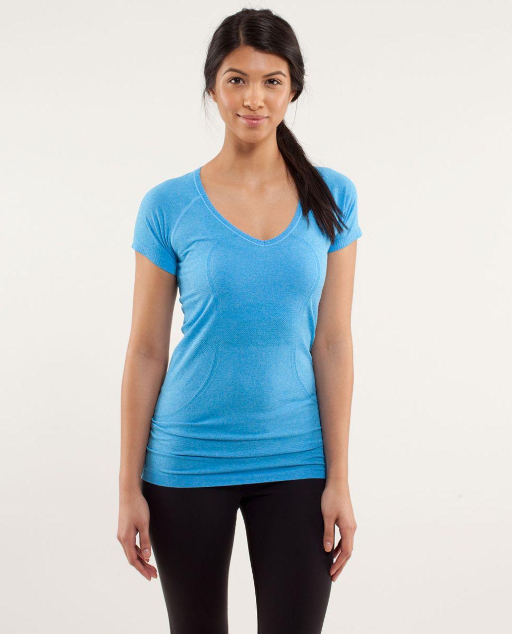 Lululemon Run:  Swiftly Tech V Neck - Beach Blanket Blue