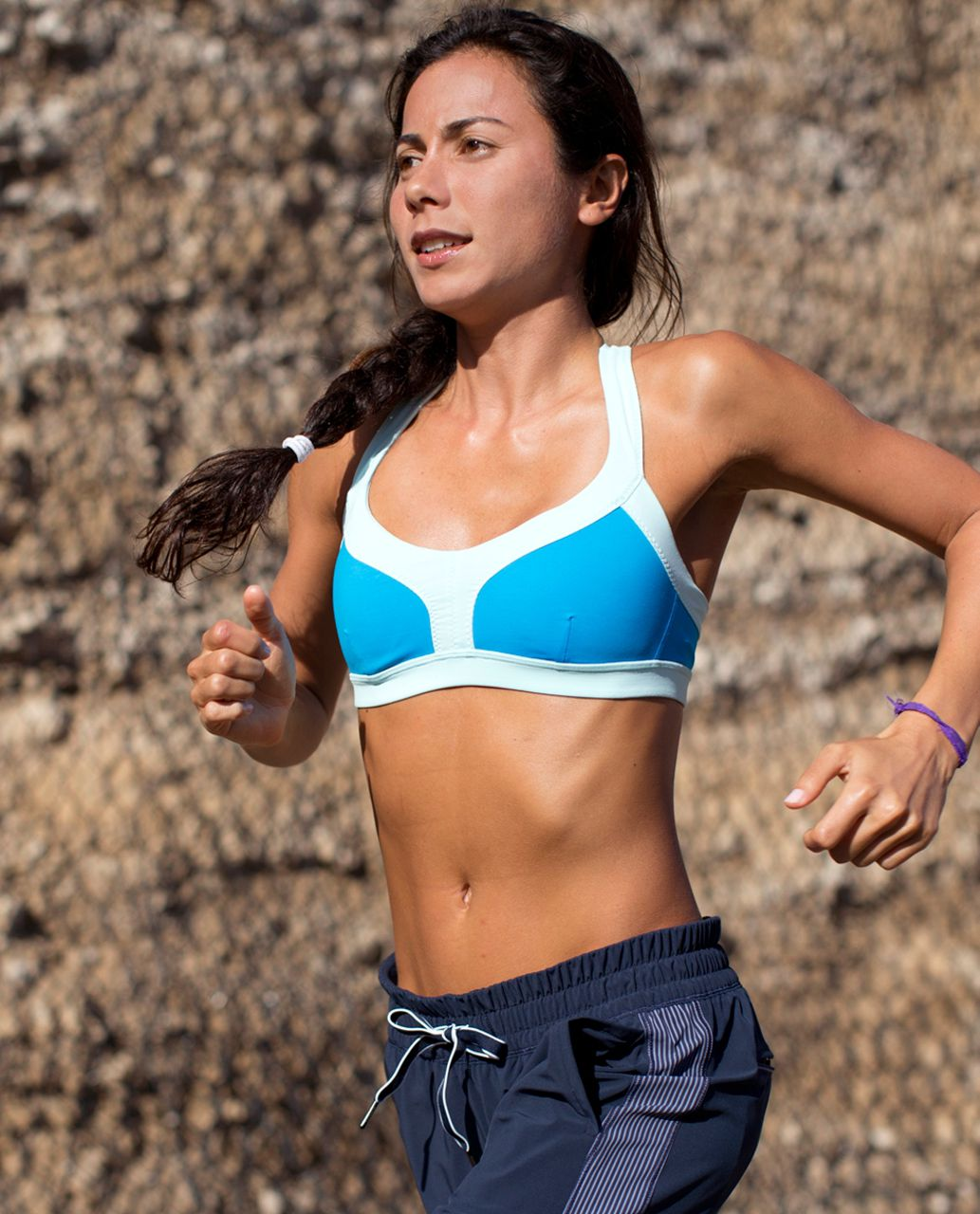 Lululemon Run:  Sprint Bra - Beach Blanket Blue / Aquamarine