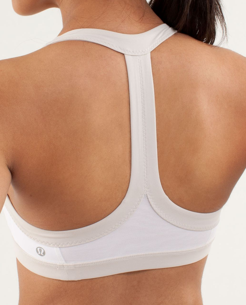 Lululemon Run:  Sprint Bra - White / Dune