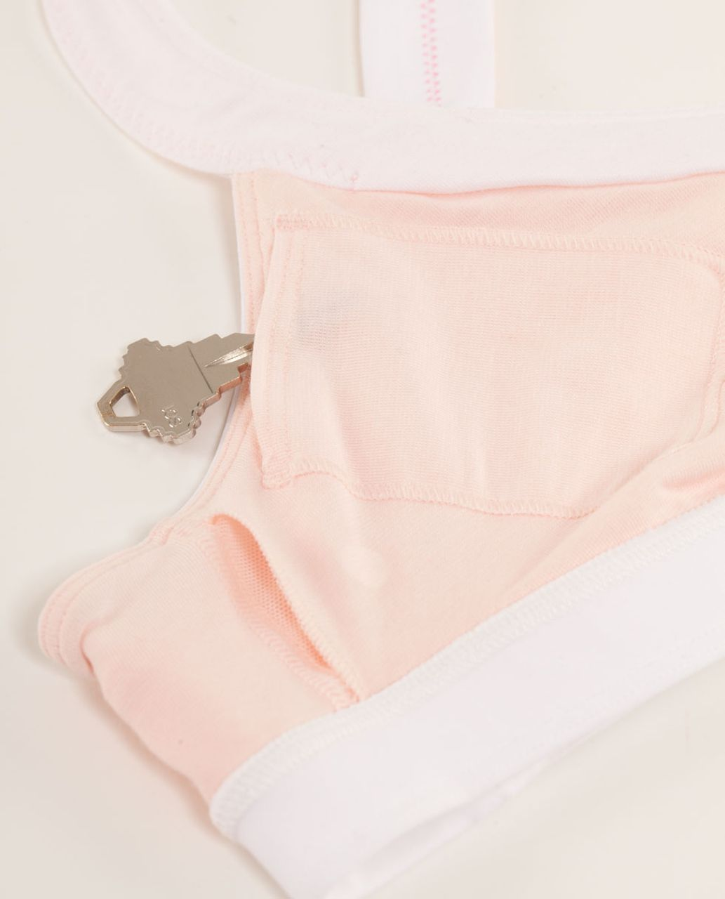 Lululemon Run:  Sprint Bra - Parfait Pink / White