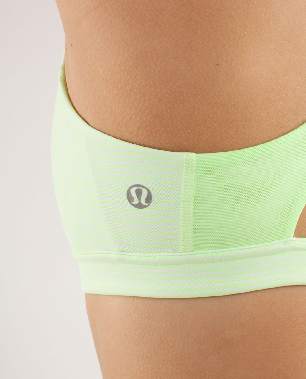 Lululemon Run:  Hook Me Up Bra - Wagon Stripe Faded Zap / Faded Zap