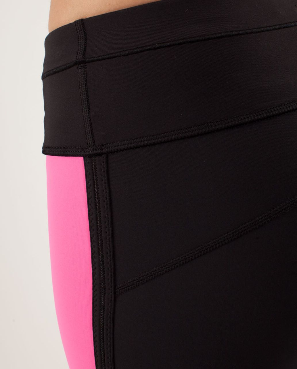 Lululemon Run:  Pace Tight - Pinkelicious / Black / Parfait Pink